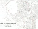 Map of Upper Arlington Historic District (Ohio)