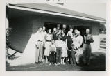 Thompson Family Gathering Outside King Gibson Thompson's Garage at 2449 Edington Road