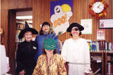 Youth Services Manager Lavonne Roscoe and Staff in Halloween Costumes, 1999