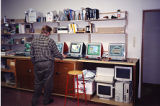 Steve Owley with Apple iMac G3 Computers, 1999